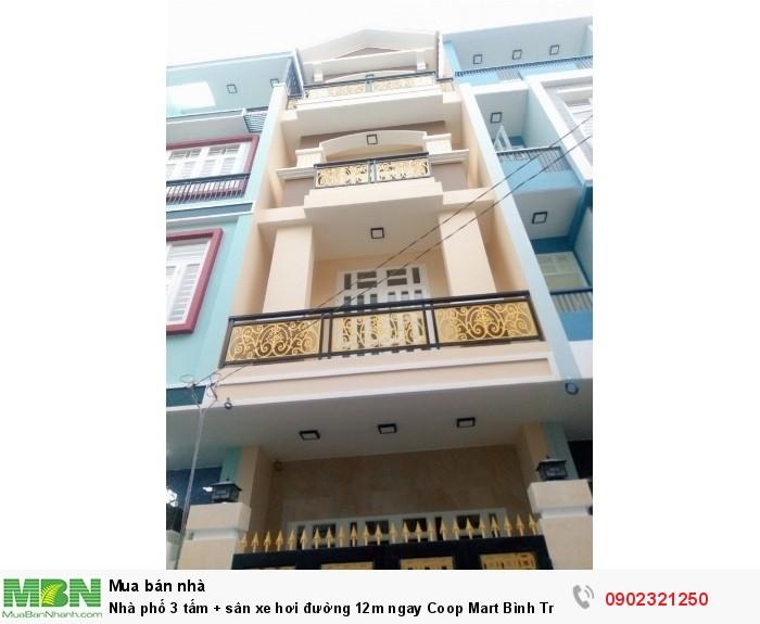 Nhà phố 3 tấm + sân xe hơi đường 12m ngay Coop Mart Bình Triệu, Hiệp Bình Chánh