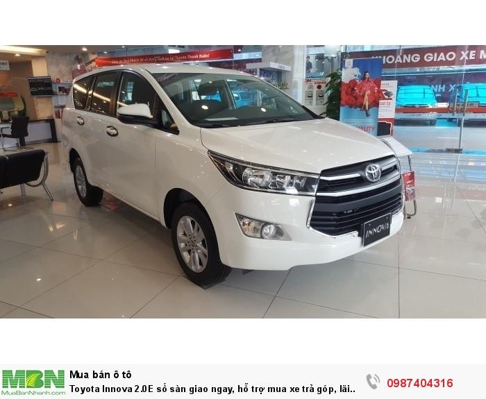 Toyota Innova 2.0E số sàn giao ngay, hỗ trợ mua xe trả góp, lãi suất ưu đãi