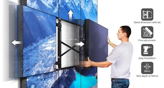 Dòng sản phẩm Videowall UDE được trang bị hàng loạt tính năng thân thiện, cho phép một quy trình cài đặt thông suốt, bổ trợ cho nhu cầu quản lý nội dung của doanh nghiệp. Những màn hình dẫn đầu trong ngành công nghiệp này cực kỳ mỏng, tấm màn hình ghép có độ sâu chỉ 39mm, dễ dàng lắp đặt, hiệu chỉnh và đặt các màn hình màn không gây xao nhãng người xem.4