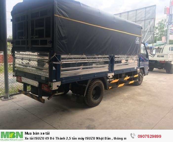 Xe tải IZ49  Đô Thành 2,5 tấn, Thùng Mui Bạt mới 100% - Cần Thơ,An Giang,Kiên Giang, Bạc Liêu,Cà Mau,Trà Vinh ,Sóc Trăng 3