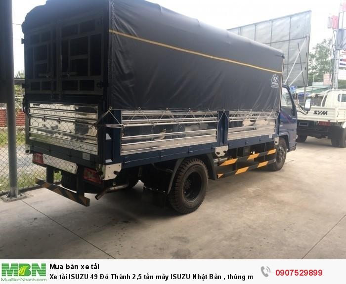 Xe tải IZ49  Đô Thành 2,5 tấn, Thùng Mui Bạt mới 100% - Cần Thơ,An Giang,Kiên Giang, Bạc Liêu,Cà Mau,Trà Vinh ,Sóc Trăng 4