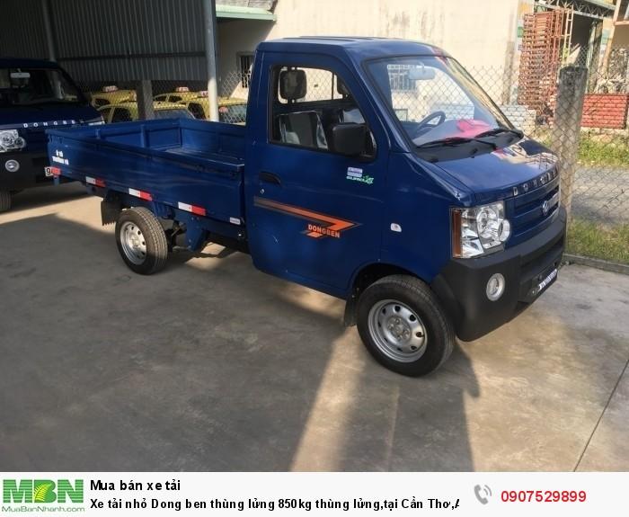 Xe tải nhỏ Dongben thùng lửng 850kg hỗ trợ trả góp lãi suất thấp ,tại Cần Thơ,An Giang,Kiên Giang,Bến Tre,Bạc Liêu,Sóc Trăng,Cà Mau,Trà Vinh 1