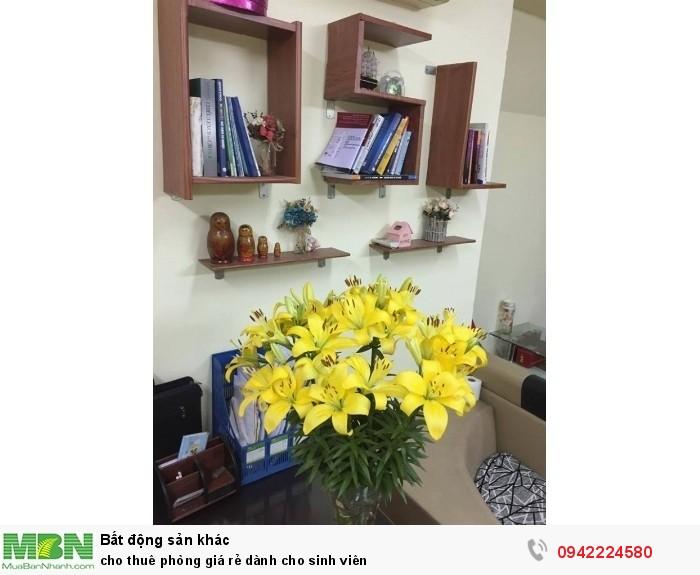 Cho thuê phòng giá rẻ dành cho sinh viên