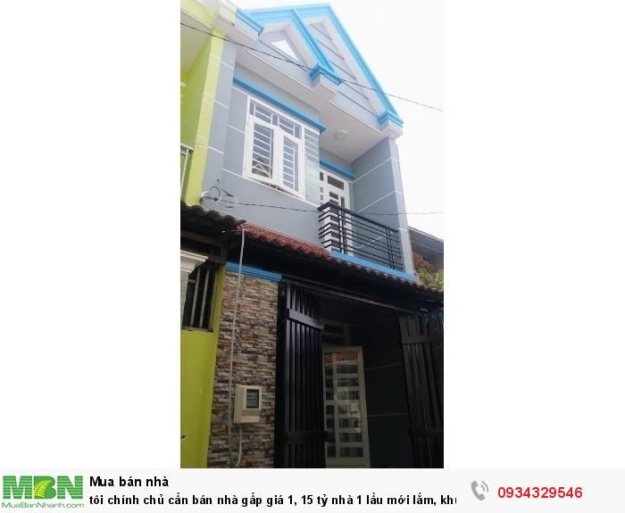 Tôi chính chủ cần bán nhà gấp giá 1,15 tỷ nhà 1 lầu mới lắm, khu trung tâm Vĩnh Lộc