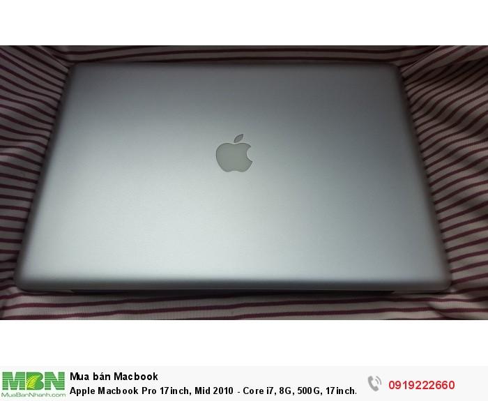 Apple Macbook Pro 17inch, Mid 2010 - Core i7, 8G, 500G, 17inch Full HD, webcam,đèn phím,máy rất đẹp1