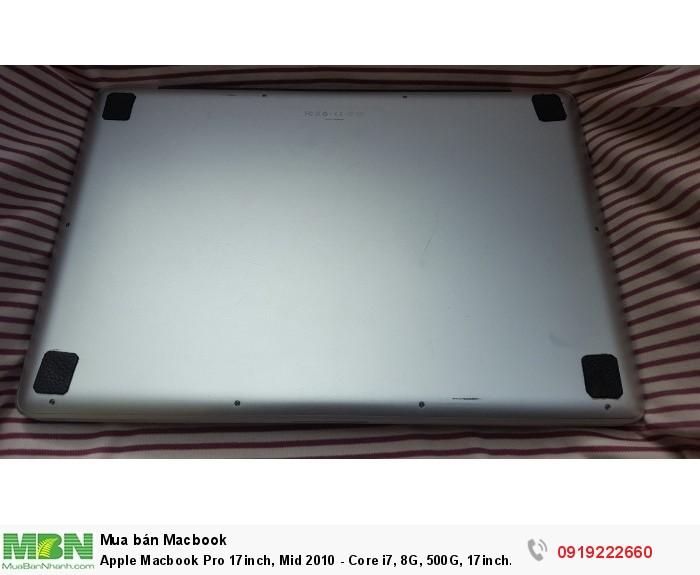 Apple Macbook Pro 17inch, Mid 2010 - Core i7, 8G, 500G, 17inch Full HD, webcam,đèn phím,máy rất đẹp4