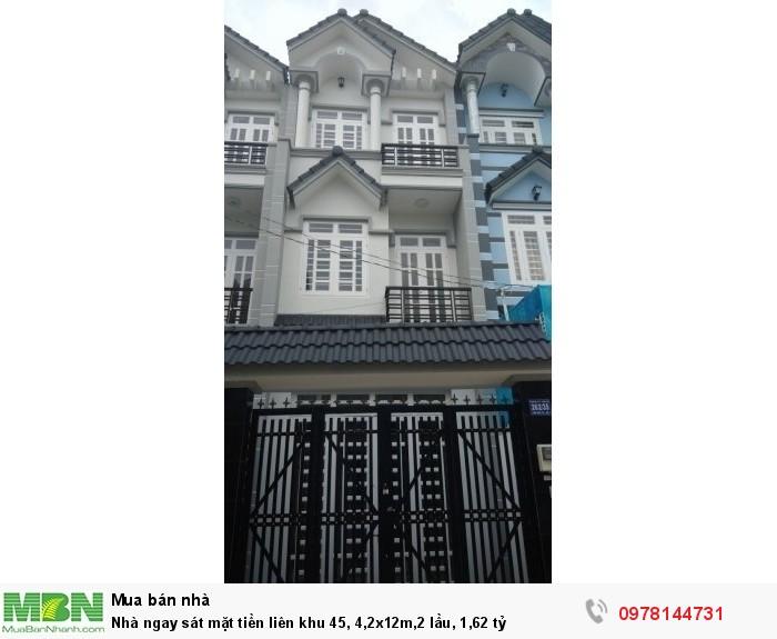 Nhà ngay sát mặt tiền liên khu 45, 4,2x12m,2 lầu