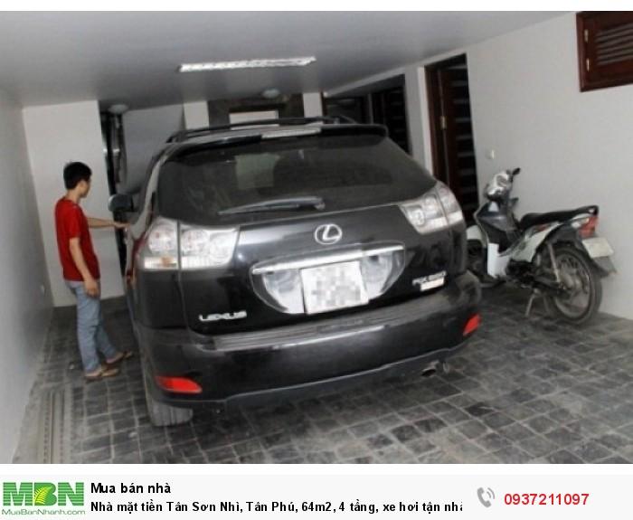 Nhà mặt tiền Tân Sơn Nhì, Tân Phú, 64m2, 4 tầng, xe hơi tận nhà