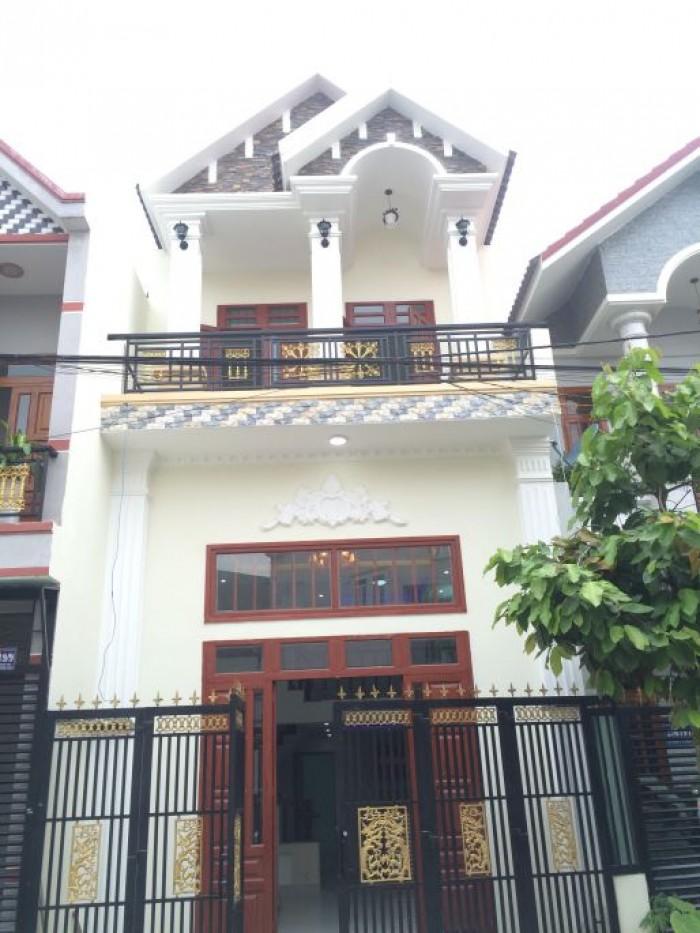 Bán nhà Bình Chánh 1 trệt 1 lầu mới xây, SHR, 100m2