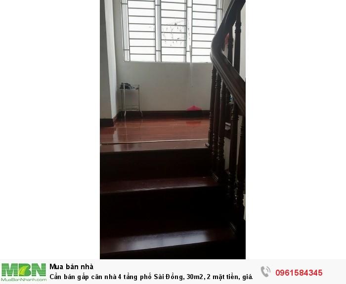 Cần bán gấp căn nhà 4 tầng phố Sài Đồng,  30m2, 2 mặt tiền