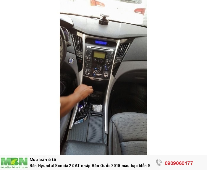 Bán Hyundai Sonata 2.0AT nhập Hàn Quốc 2010 màu bạc biển Sài Gòn