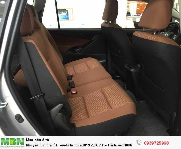 Khuyến Mãi Toyota Innova Innova G số tự động Màu Bạc, Mua Trả Góp 200tr