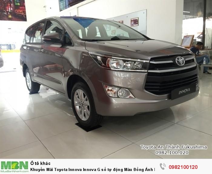 Khuyến Mãi Toyota Innova Innova G số tự động Màu Đồng Ánh Kim, Mua Trả Góp 200tr
