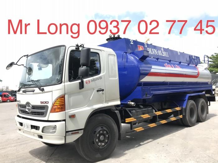 Khuyển mãi xe HINO chở xăng 20 khối , xe bồn chở xăng 20 khối , HINO FL8JTSA chở xăng dầu 3