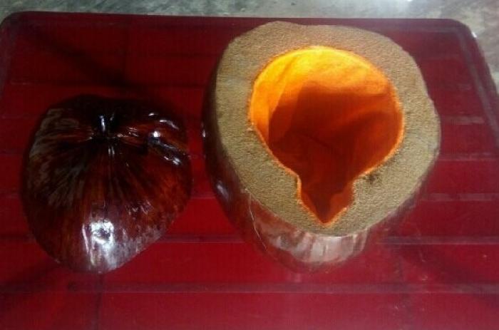 Vỏ bình trà bằng trái dừa1