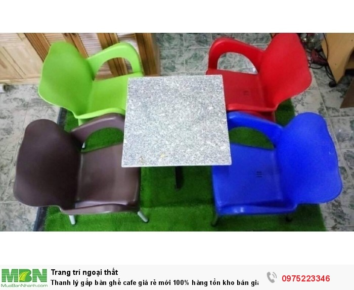 Thanh lý gấp bàn ghế nhựa cafe giá rẻ mới 100% hàng tồn kho..1