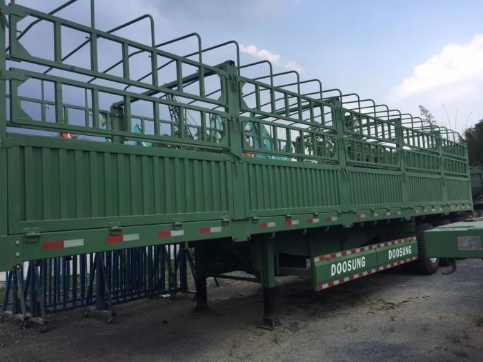Bán và cho thuê Rơ Mooc tải khung mui 3 trục 40 feet Doosung 30,2 tấn có sẵn, giá rẻ