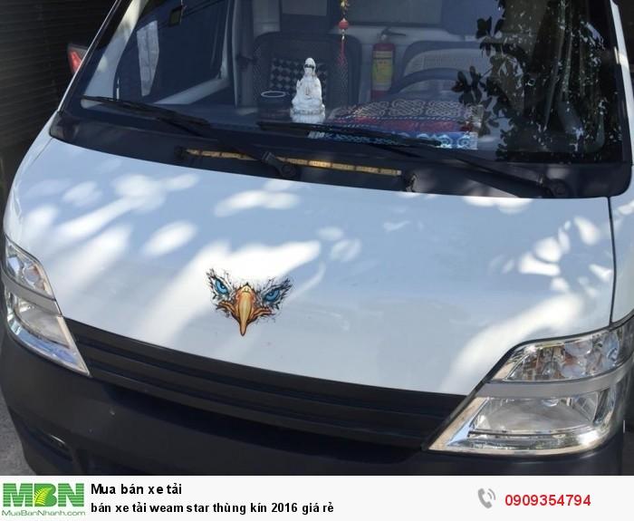bán xe tải weam star thùng kín 2016 giá rẻ