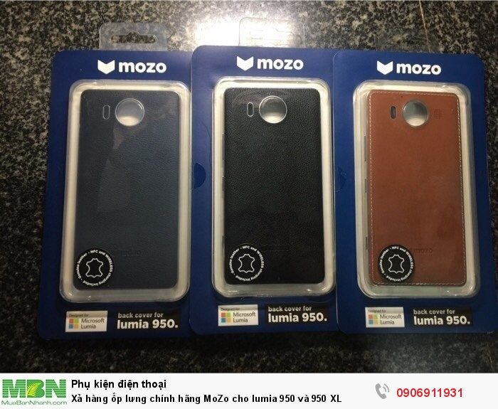 Xả hàng ốp lưng chính hãng MoZo cho lumia 950 và 950 XL