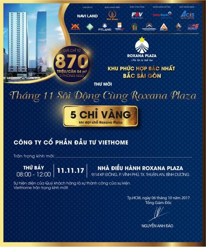 bán căn hộ tại Bình Dương, gần cầu Vĩnh Phú, đối diện Bệnh Viện Quốc Tế Hạnh Phúc 870tr/ căn 2pn 54m2