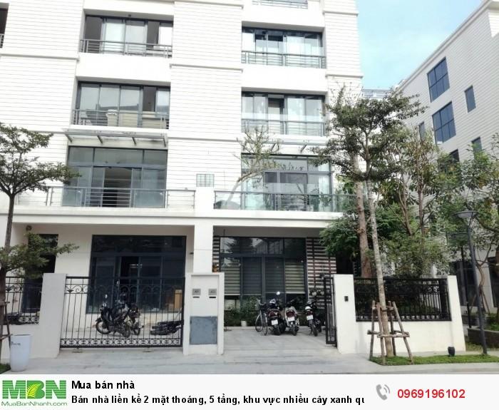 Bán nhà liền kề 2 mặt thoáng, 5 tầng, khu vực nhiều cây xanh quận Thanh Xuân
