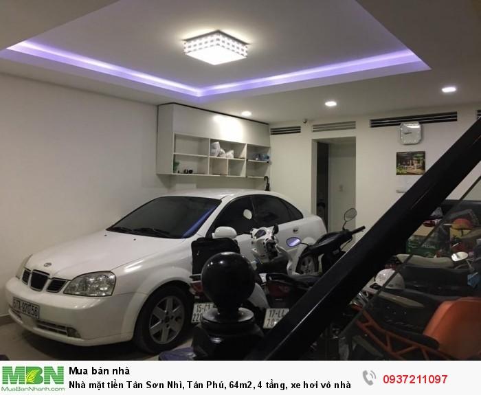 Nhà mặt tiền Tân Sơn Nhì, Tân Phú, 64m2, 4 tầng, xe hơi vô nhà