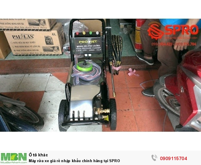 Máy rửa xe giá rẻ nhập khẩu chính hãng tại SPRO