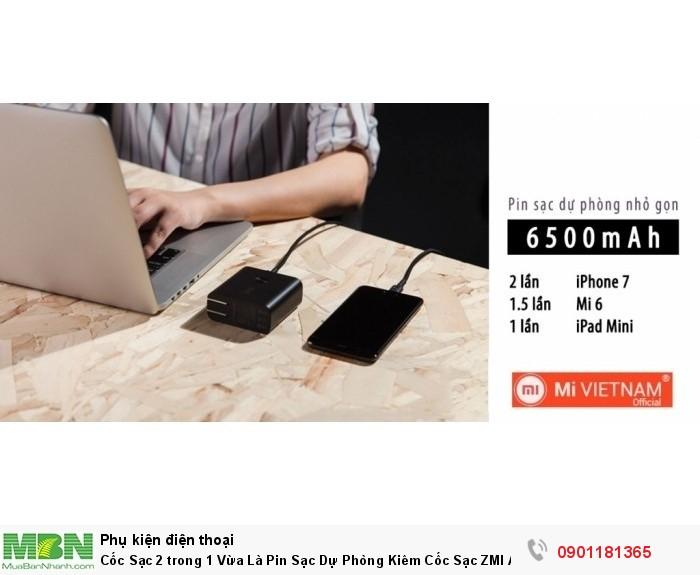 Sản phẩm đa dụng, củ sạc kiêm sạc dự phòng Xiaomi ZMI