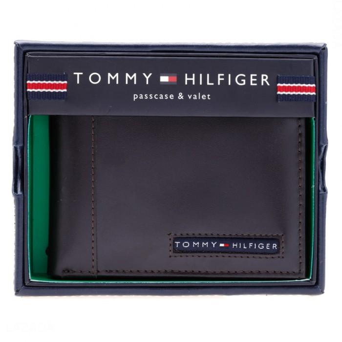 Bóp da Tommy Hilfiger Men's Cambridge Passcase Wallet, Brown0