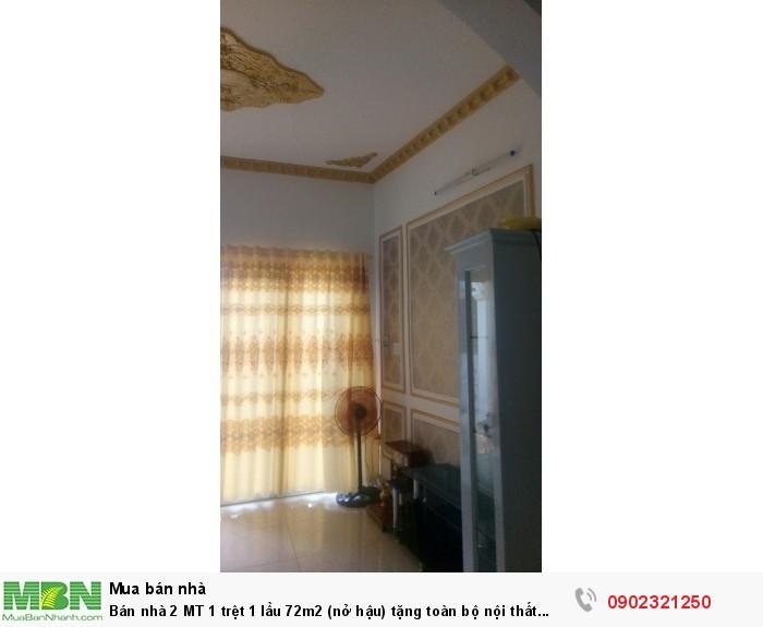 Bán nhà 2 MT 1 trệt 1 lầu 72m2 (nở hậu) tặng toàn bộ nội thất đường ô tô ngay đường số 4 Linh Tây