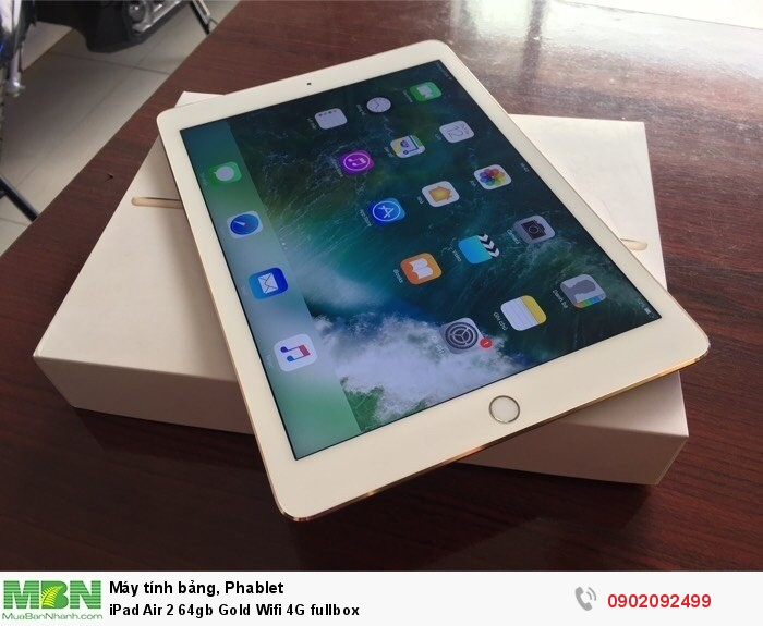 iPad Air 2 64gb Gold Wifi 4G fullbox0