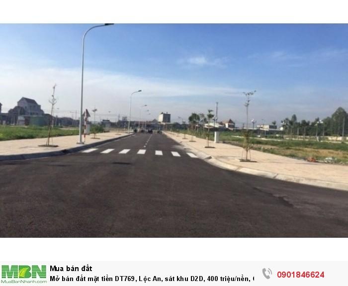 Mở bán đất mặt tiền DT769, Lộc An, sát khu D2D, 400 triệu/nền, CK ngay 2%