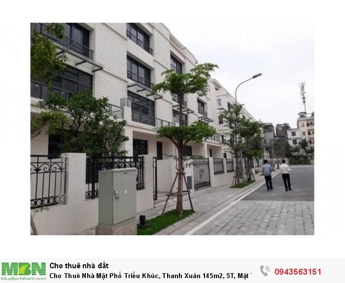 Cho Thuê Nhà Mặt Phố Triều Khúc, Thanh Xuân 145m2, 5T, Mặt Tiền 7m