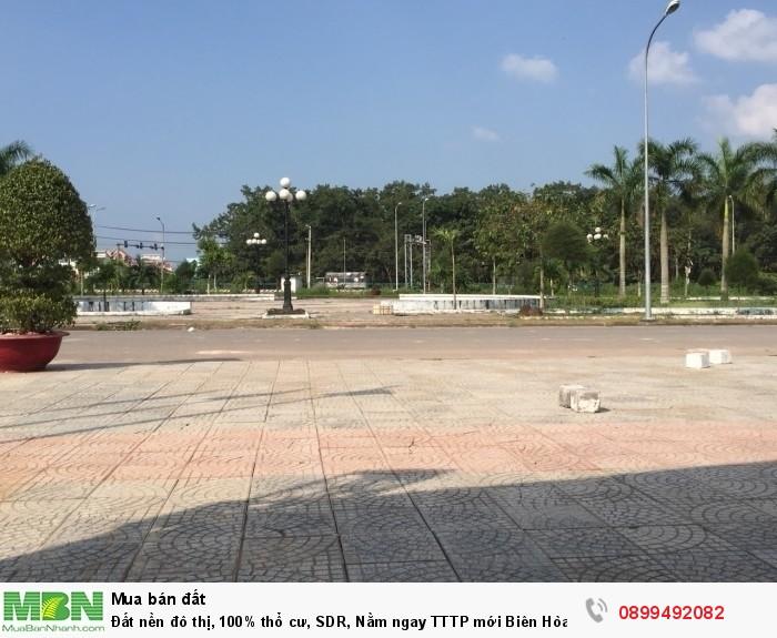 Đất nền đô thị, 100% thổ cư, SDR, Nằm ngay TTTP mới Biên Hòa dân cư sầm uất.