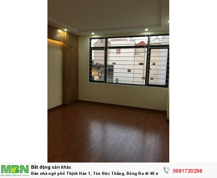 Bán nhà ngõ phố Thịnh Hào 1, Tôn Đức Thắng, Đống Đa dt 48 m2 x 5 t