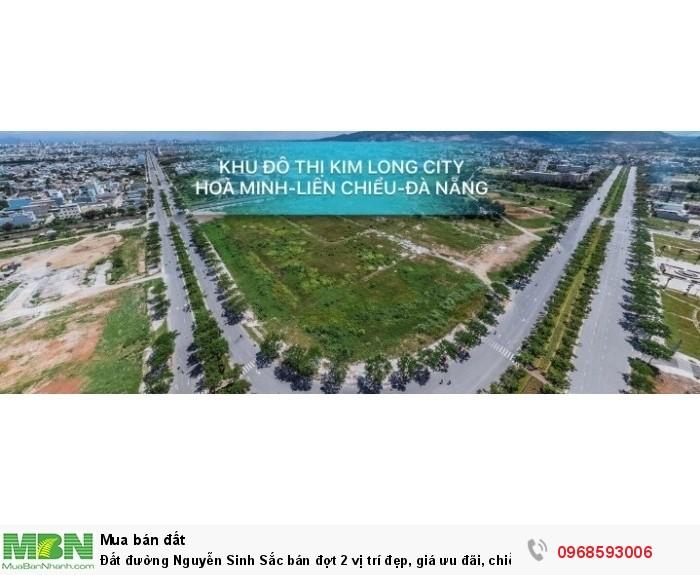 Đất đường Nguyễn Sinh Sắc bán đợt 2 vị trí đẹp, giá ưu đãi, chiết khấu cao