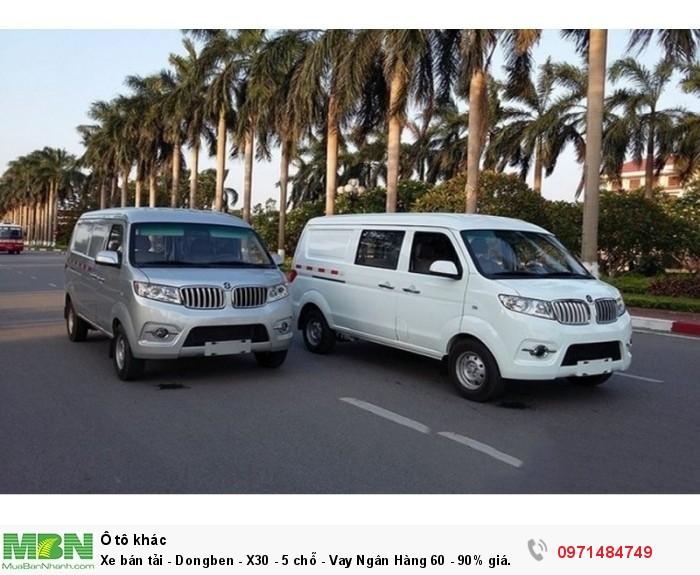 Xe bán tải - Dongben - X30 - 5 chỗ - Vay Ngân Hàng 60 - 90% giá trị xe