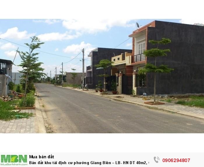 Bán đất khu tái định cư phường Giang Biên – LB- HN DT 40m2