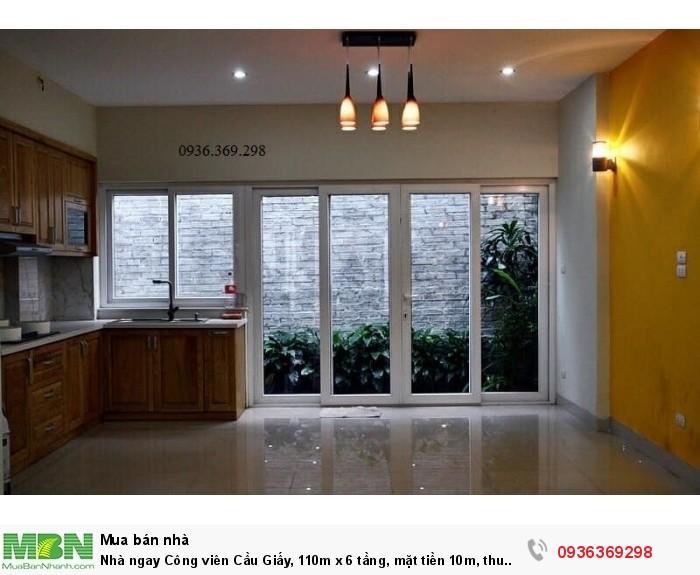 Nhà ngay Công viên Cầu Giấy, 110m x 6 tầng, mặt tiền 10m, thu nhập 70 triệu/tháng!