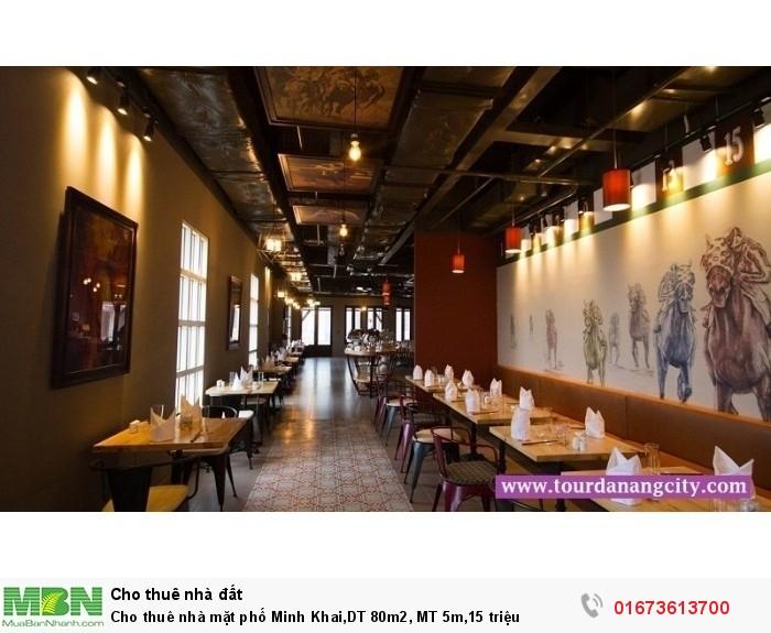 Cho thuê nhà mặt phố Minh Khai,DT 80m2, MT 5m