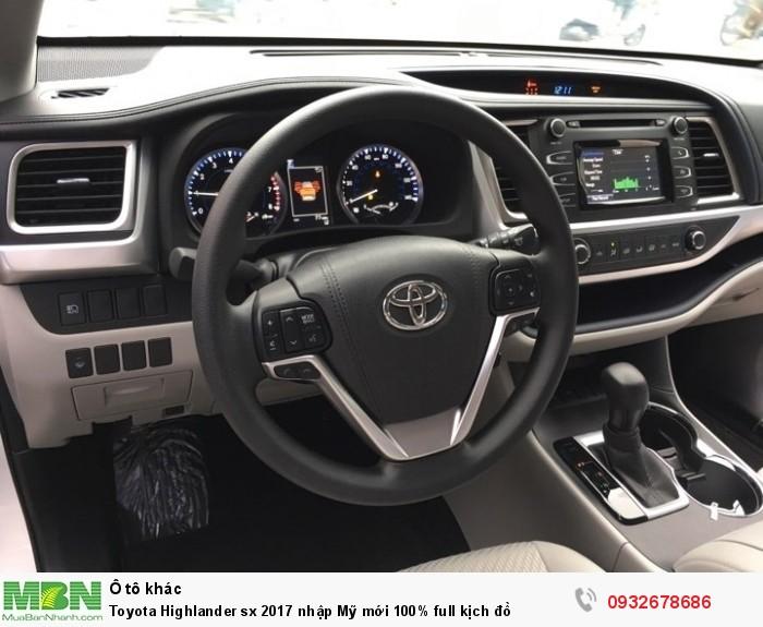 Toyota Highlander sx 2017 nhập Mỹ mới 100% full kịch đồ 2
