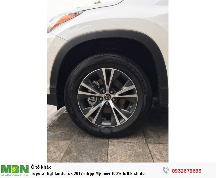 Toyota Highlander sx 2017 nhập Mỹ mới 100% full kịch đồ 4