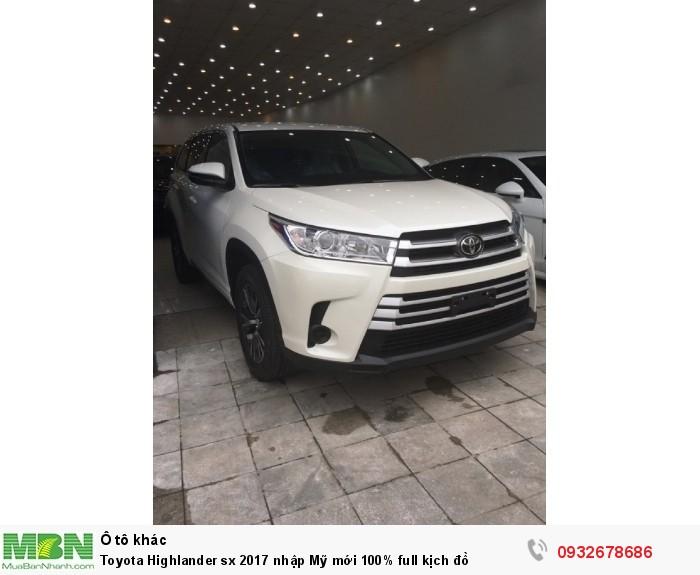 Toyota Highlander sx 2017 nhập Mỹ mới 100% full kịch đồ 9