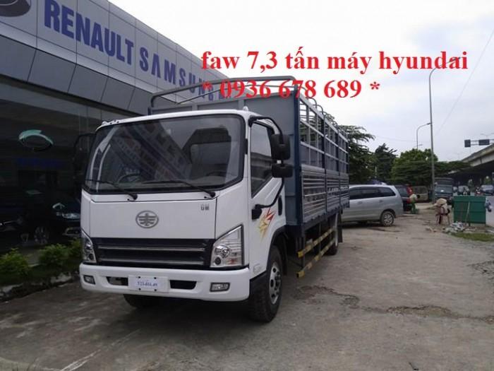 xe tải faw 7,3 tấn động cơ hyundai,thùng dài 6,25m,cabin hiện đại