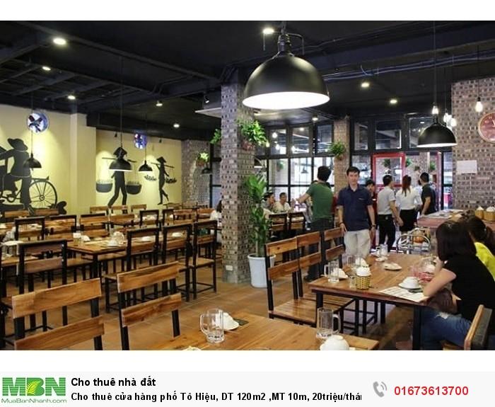 Cho thuê cửa hàng phố Tô Hiệu, DT 120m2 ,MT 10m