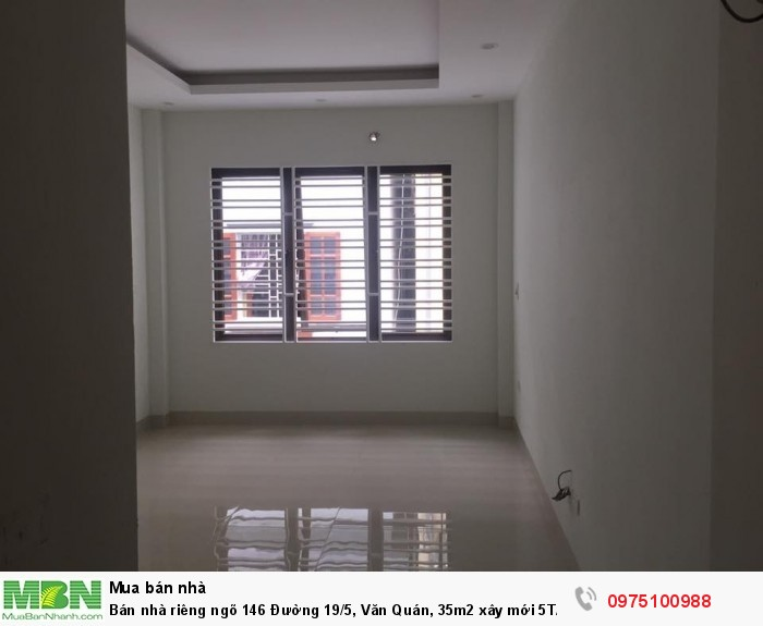 Bán nhà riêng ngõ 146 Đường 19/5, Văn Quán, 35m2 xây mới 5T/4PN full đồ. Về ở ngay