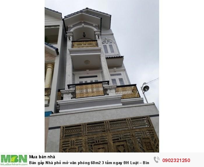 Bán gấp Nhà phố mở văn phòng 60m2 3 tấm ngay ĐH Luật – Bình Triệu 500m, đường xe tải 12m