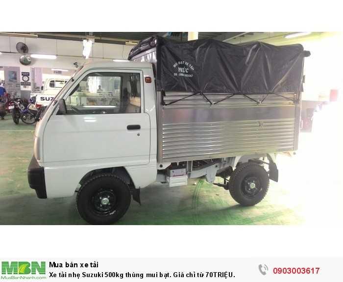 Xe tải nhẹ Suzuki 500kg thùng mui bạt. Giá chỉ từ 70TRIỆU.