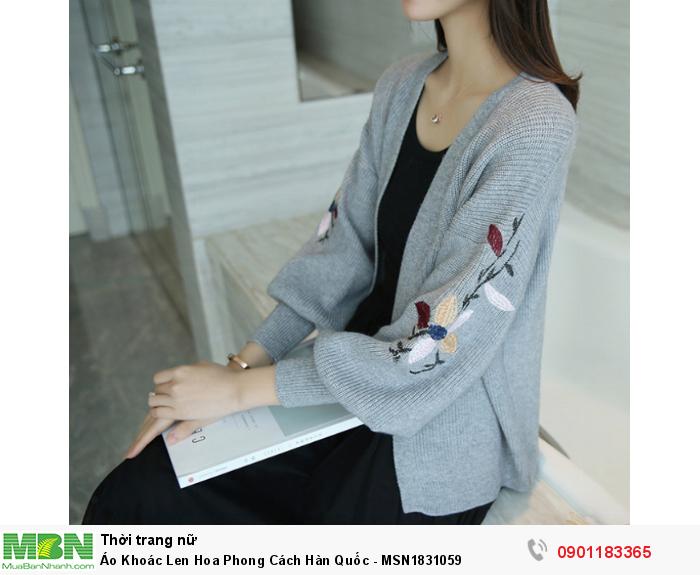 Áo khoác len hoa với kiểu dáng hiện đại, hợp thời trang đã trở thành một loại trang phục được rất nhiều bạn gái yêu thích.