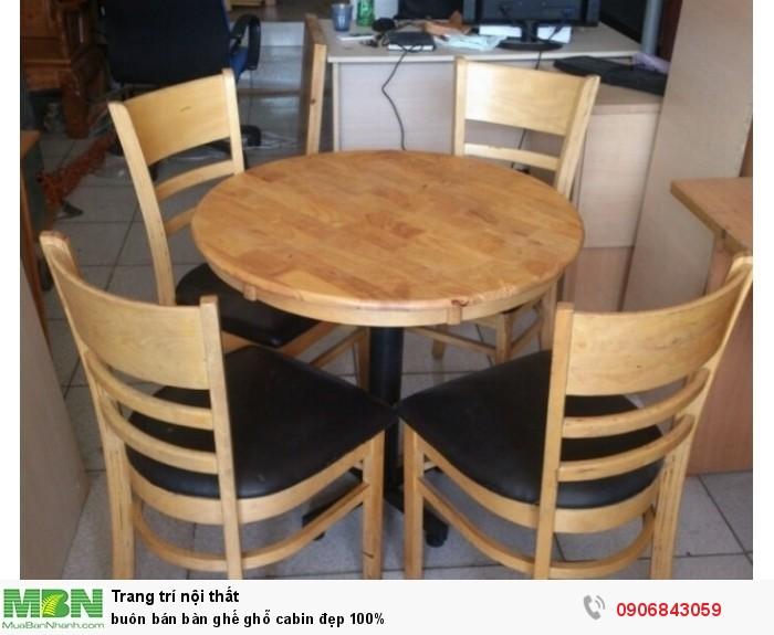 Buôn bán bàn ghế ghỗ cabin đẹp 100%0